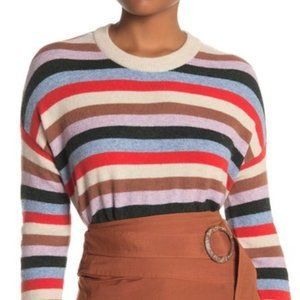 Madewell Striped James Pullover Wool Blend Sweater